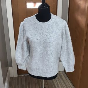 Marled reunited gray crewneck sweater with silver!